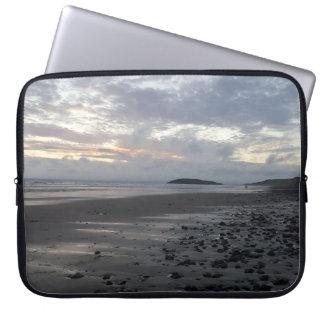 Pebble Beach, Rhossili Bay Laptop Sleeve
