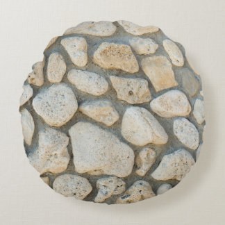 Pebble pattern round pillow