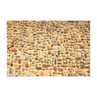 Pebble Stone Wall Mosaic Canvas Print