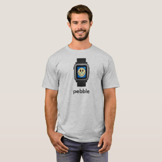 Pebble Time Black Smiley T-Shirt