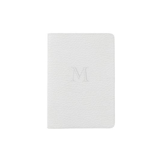 Pebbled Leather Texture Passport Holder