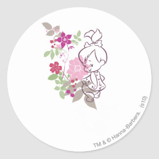 PEBBLES™ A Cutie In The Flowers Classic Round Sticker