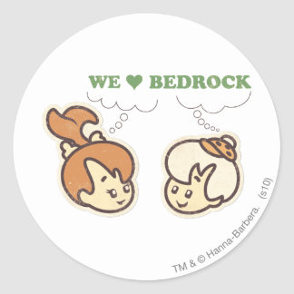 PEBBLES™ and Bam Bam Love Bedrock Classic Round Sticker