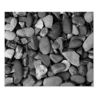 Pebbles in Black and White Print