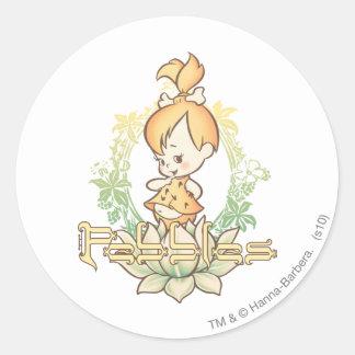 PEBBLES™ in Lotus Flower Classic Round Sticker