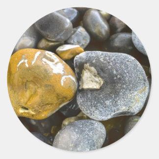 pebbles odd one classic round sticker
