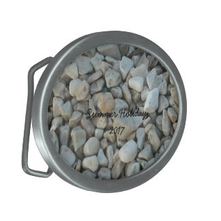 Pebbles on Beach Stone Photography Belt Buckles