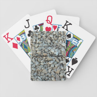 Pebbles on Beach Stone Photography Bicycle Playing Cards