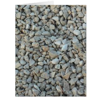 Pebbles on Beach Stone Photography Card