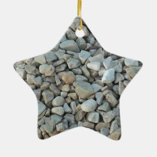 Pebbles on Beach Stone Photography Ceramic Ornament