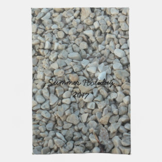 Pebbles on Beach Stone Photography Kitchen Towel