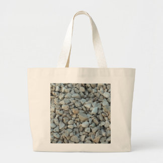 Pebbles on Beach Stone Photography Large Tote Bag