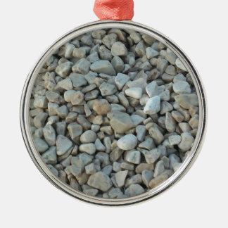 Pebbles on Beach Stone Photography Metal Ornament