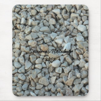Pebbles on Beach Stone Photography Mouse Pad