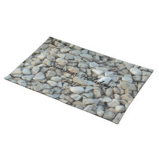 Pebbles on Beach Stone Photography Placemat