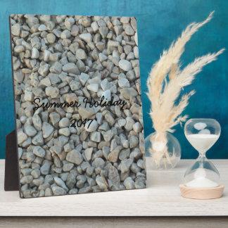 Pebbles on Beach Stone Photography Plaque