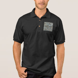 Pebbles on Beach Stone Photography Polo Shirt