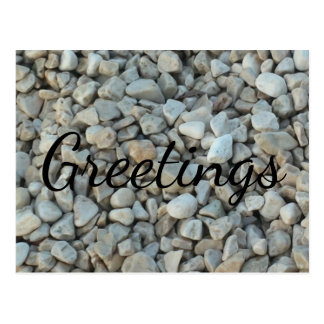 Pebbles on Beach Stone Photography Postcard