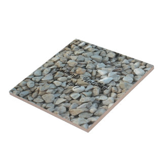 Pebbles on Beach Stone Photography Tile