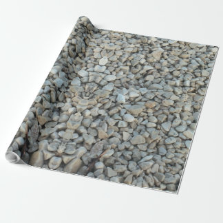 Pebbles on Beach Stone Photography Wrapping Paper