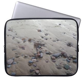 Pebbles on the Sand Laptop Sleeve