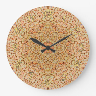 Pebbles Pattern   Clock, square or round Large Clock