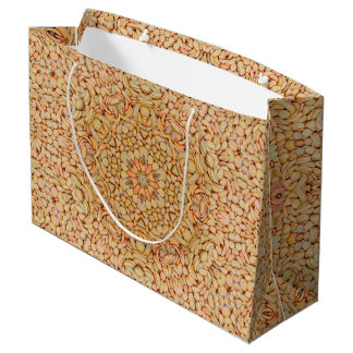 Pebbles Pattern  Custom Gift Bag - Large, Glossy
