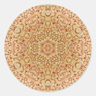 Pebbles Pattern  Sticker, Glossy Round Sticker