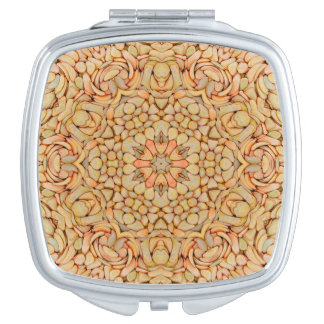 Pebbles Pattern Vintage  Compact Mirrors