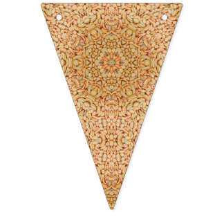 Pebbles Pattern Vintage Kaleidoscope Party Bunting Bunting Flags