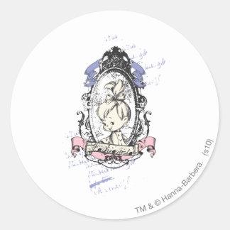 PEBBLES™ Pretty In Reflection Classic Round Sticker