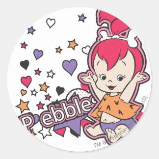 PEBBLES™ Purple Heart Classic Round Sticker