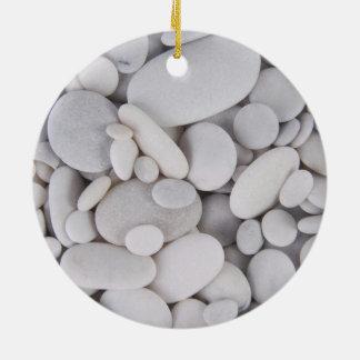 Pebbles, Rocks, Background Ceramic Ornament