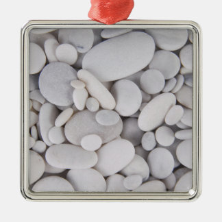 Pebbles, Rocks, Background Metal Ornament