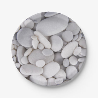 Pebbles, Rocks, Background Paper Plate