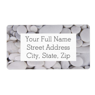 Pebbles, Rocks, Background Shipping Label
