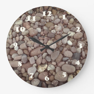 Pebbles Stones Photo Round (Large) Wall Clock