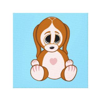 Pebbles the Puppy Canvas Print