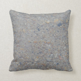 pebbles under water almost SOLID brown tan gray Throw Pillow