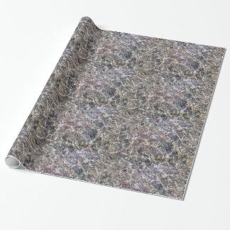 Pebbles Underwater Glossy Wrapping Paper
