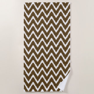 Pecan Southern Cottage Chevrons Beach Towel