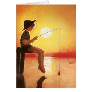 Pêche allée cartes de vœux