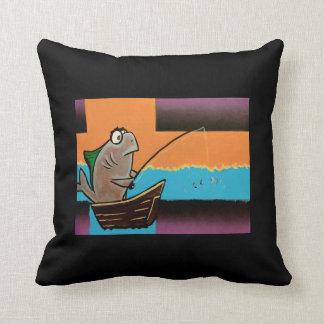 Pêche allée coussin décoratif