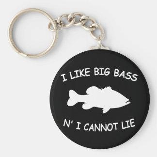 Pêche au bar drôle porte-clé rond