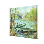 Pêche au printemps. Pont de Clichy, 1887 Impressions Sur Toile