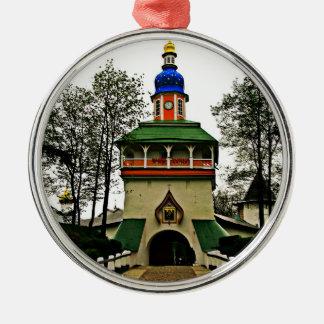 Pechory Russia Monastery Silver-Colored Round Ornament