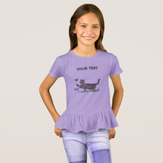 Peculiar cat by a butterfly T-Shirt