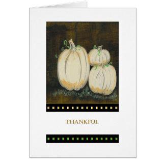 PedagogyGreetings Card: White Pumpkins II Card