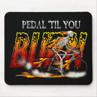 Pedal Burn Cyclists art - Bicycles in Motion Mouse Pad