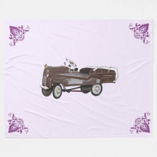 Pedal Car Fleece Blanket